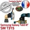 SM-T315 Micro USB TAB3 Charge Dorés SM Qualité T315 TAB MicroUSB ORIGINAL Samsung Chargeur Contacts Connecteur Galaxy Nappe 3 OFFICIELLE Réparation de