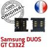 Samsung Duos GT c3322 S Lecteur souder Pins ORIGINAL Prise SLOT SIM Dorés Carte Reader à OR Contacts Card Connector Connecteur
