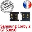 Samsung Corby 2 GT s3850 S SLOT Pins Lecteur souder Card Reader ORIGINAL Contacts à OR Carte Connecteur Prise Connector Dorés SIM