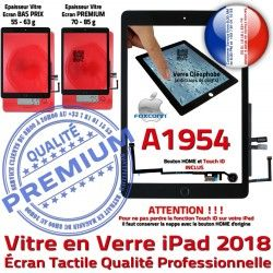 Tablette Ecran Fixation iPad Vitre HOME Caméra Oléophobe Noir Adhésif Tactile Nappe Réparation Monté IC AIR Verre A1954 Qualité