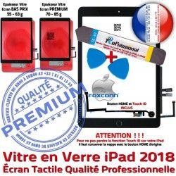 Réparation Outil KIT iPad HOME Tactile PREMIUM Nappe Oléophobe PACK Precollé N Qualité Bouton Noire Verre Adhésif Démontage 9.7 2018 Vitre inch