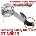 Samsung Galaxy NOTE GT-N8013 Ch Qualité ORIGINAL Réparation de Contacts Charge Dorés Chargeur Nappe Connecteur MicroUSB OFFICIELLE