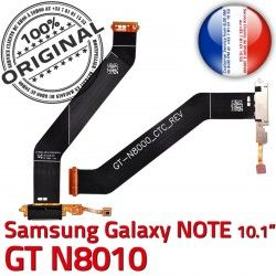 Samsung de MicroUSB OFFICIELLE Ch Contacts Galaxy Réparation ORIGINAL Charge Connecteur Nappe Chargeur Dorés GT-N8010 Qualité NOTE