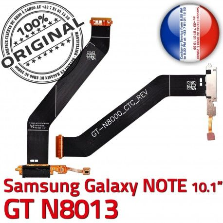 Samsung Galaxy NOTE GT-N8013 Ch Qualité Nappe OFFICIELLE ORIGINAL Chargeur Dorés Contacts Réparation de Connecteur Charge MicroUSB