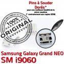Samsung Galaxy NEO i9060 USB souder Prise GT charge Micro à Pins Grand Dorés Chargeur Connector ORIGINAL Qualité Dock Connecteur