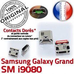 Prise Connector Samsung MicroUSB USB Chargeur SLOT charge Grand souder Qualité Dock Dorés à GT-i9080 Galaxy ORIGINAL Fiche de Pins