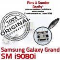 Samsung Galaxy GT-i9080i USB Fiche Qualité de Pins Chargeur Dock à Prise Dorés Connector charge Grand souder SLOT MicroUSB ORIGINAL