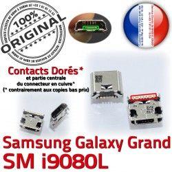 USB GT Prise charge Dock Samsung à Qualité de i9080L Dorés Connecteur ORIGINAL Galaxy Grand Pins souder Micro Connector Chargeur