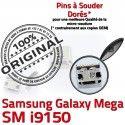 Samsung Galaxy i9150 USB Duos Connecteur Chargeur charge Qualité à souder Mega Dorés de Pins Connector Prise GT ORIGINAL Micro