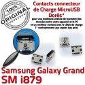 Samsung Galaxy i879 USB Pins de Dock Dorés Grand Connector souder Qualité charge Micro GT Chargeur à Prise ORIGINAL Connecteur