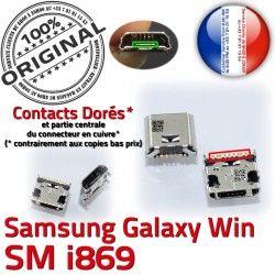 Win ORIGINAL souder Pins Prise Galaxy Qualité Connector Dock GT charge USB Samsung Dorés Micro Connecteur de i869 Chargeur à