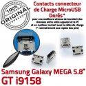 Samsung Galaxy GT-i9158 USB souder ORIGINAL charge Duos Connector de Dock Prise Pins MicroUSB Dorés Fiche Chargeur à Qualité Mega