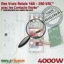 Commande Éclairage Lampe 16A Contacteur Automatique Electronique 4000W Jour-Nuit 4kW Creuses DIN Heure Rail Hebdomadaire Programmateur