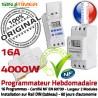 Commutateur Ouverture 16A Rail 4kW Journalière Digital Portail Programmation Automatique 4000W DIN Electronique électrique Tableau Minuterie