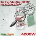 Programmateur Extracteur 16A 4kW électrique Electronique Journalière Digital Minuterie Affichage Tableau 4000W Automatique Lumineux Programmation Rail