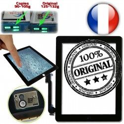 iPad4 Adhésif P6 Vitres en Ecrans Home Verre Bouton Version 4 épais Apple Oléophobe Originale Multi-Touch A1459 A1460 Tactiles Prémontés plus 6 A1458 iPad