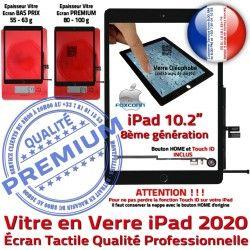 Precollé A2428 Caméra A2429 A2430 Qualité Vitre PREMIUM Remplacement Bouton Adhésif iPad A++ HOME Noir 2020 Fixation N Verre Oléophobe Ecran A2270 Tactile
