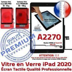 HOME 2020 Tablette Noir Verre Réparation Fixation Qualité Oléophobe Vitre Monté Nappe A2270 Ecran Tactile IC Adhésif iPad Caméra