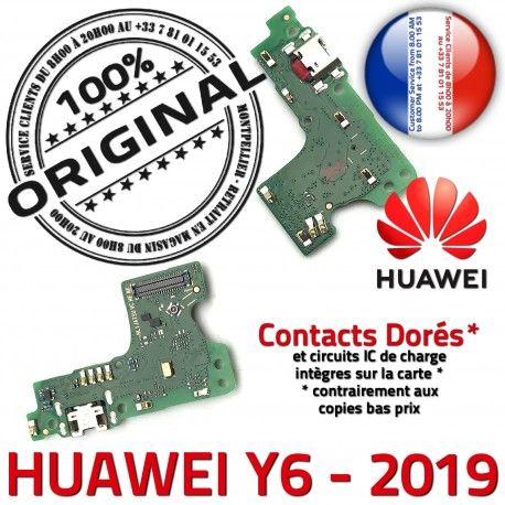 Huawei Y6 2019 Microphone Qualité USB Nappe Charge OFFICIELLE Chargeur ORIGINAL RESEAU Antenne Prise Téléphone Micro Connecteur