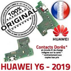 Charge Huawei Téléphone ORIGINAL USB Chargeur RESEAU Connecteur Antenne Y6 Nappe OFFICIELLE 2019 Prise Qualité Microphone Micro