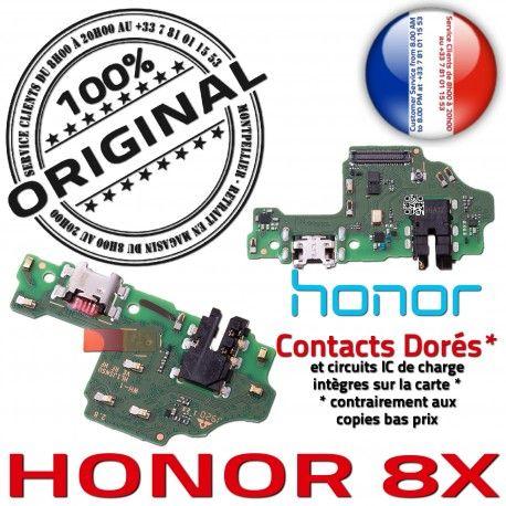 Honor 8X Branchement Antenne PORT ORIGINAL Qualité Téléphone Chargeur Nappe USB Microphone Câble Micro OFFICIELLE Prise Charge