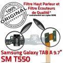 Samsung Galaxy TAB A SM-T550 C Qualité MicroUSB SM OFFICIELLE Contact Nappe Réparation Charge Chargeur Doré Connecteur T550 ORIGINAL de