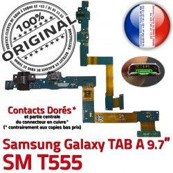 A Connecteur Bouton Ecouteurs ORIGINAL TAB Charge Nappe SM-T555 SM T555 Samsung Chargeur Galaxy Jack MicroUSB HOME Réparation Casque