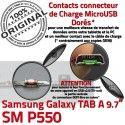Samsung TAB A SM-P550 Galaxy C de Contacts Micro USB Qualité Doré Réparation Nappe SM Chargeur Connecteur OFFICIELLE P550 ORIGINAL Charge