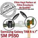 Samsung TAB A SM-P550 Galaxy C de Doré Chargeur OFFICIELLE Micro P550 Nappe ORIGINAL Contacts USB SM Réparation Connecteur Charge Qualité