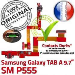 Galaxy C P555 Samsung ORIGINAL MicroUSB Doré TAB SM Qualité Nappe Chargeur SM-P555 Charge Contact de OFFICIELLE Connecteur Réparation A