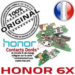 OFFICIELLE Connecteur PORT Charge Téléphone Chargeur Qualité RESEAU Antenne 6X Huawei Prise Honor Microphone Nappe USB ORIGINAL