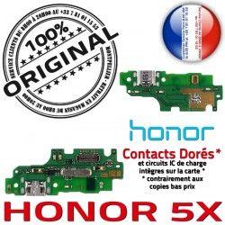 5X Antenne Téléphone OFFICIELLE Câble PORT USB Microphone Charge ORIGINAL Qualité Chargeur Nappe Micro Honor Haut-Parleur JACK