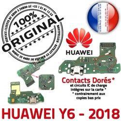 2018 Qualité ORIGINAL de Câble Microphone Y6 Connecteur JACK USB Chargeur PORT Huawei Micro Charge Nappe RESEAU Antenne Prise