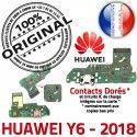 Huawei Y6 2018 Prise Alim Charge Câble Antenne Alimentation Chargeur Microphone JACK PORT Nappe USB Micro Téléphone Qualité ORIGINAL