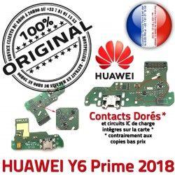 Connecteur Micro JACK Charge Y6 Qualité Prise Huawei Câble 2018 Antenne ORIGINAL de PORT USB Nappe Microphone Prime Chargeur