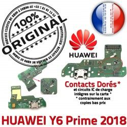 Charge 2018 Microphone Huawei Chargeur Y6 Nappe ORIGINAL Prime Câble PORT USB Téléphone Branchement Antenne DOCK Micro de JACK