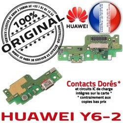 Branchement Téléphone Qualité ORIGINAL Antenne Micro PORT Y6-2 Huawei USB JACK Nappe Chargeur C Microphone Charge Câble