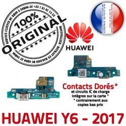 Alimentation Microphone Micro Y6 Téléphone USB Antenne PORT Charge Câble Chargeur Prise 2017 Huawei Qualité Nappe JACK ORIGINAL Alim