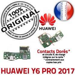 OFFICIELLE Prise Charge Chargeur Qualité ORIGINAL Téléphone Y6 USB Connecteur PRO RESEAU 2017 Nappe Microphone Antenne Huawei