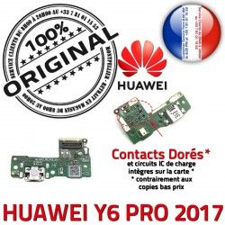 MicroUSB de ORIGINAL PORT Câble Connecteur Microphone Y6 PRO Antenne Nappe USB RESEAU Prise Huawei Qualité 2017 JACK Chargeur Charge