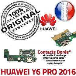 Prise PRO Antenne Y6 Charge Chargeur Connecteur PORT Microphone Qualité Nappe USB SMA GSM ORIGINAL 2016 Micro Téléphone Huawei