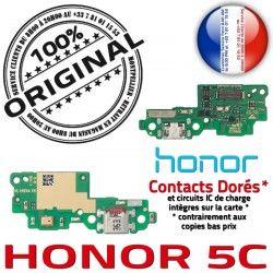 Téléphone Charge RESEAU 5C Qualité OFFICIELLE Huawei USB Honor Nappe DOCK Antenne Prise Connecteur Microphone ORIGINAL Chargeur