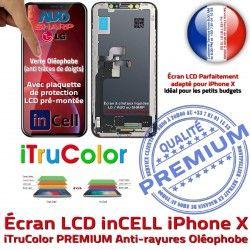 PREMIUM Vitre Multi-Touch Verre Touch X Écran Châssis inCELL Cristaux Liquides Apple Remplacement 3D Tactile iPhone LCD sur