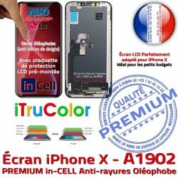 iPhone PREMIUM 3D Multi-Touch Liquides LCD SmartPhone Cristaux Verre Écran X Remplacement Oléophobe in-CELL Apple inCELL A1902 Touch HDR