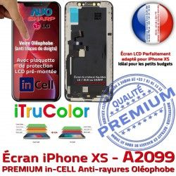 in-CELL inCELL A2099 LCD SmartPhone XS Ecran Multi-Touch PREMIUM Verre Écran Touch Liquides Remplacement Cristaux iPhone Apple iTrueColor