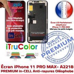 in A2218 PRO inCELL LCD Liquides Apple PREMIUM Complet SmartPhone Écran 6,5 sur iPhone Super Affichage 11 Cristaux Châssis MAX Retina