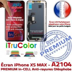 Touch LCD SmartPhone PREMIUM Apple Multi-Touch iPhone Ecran Remplacement Verre A2104 XS Liquides 3D MAX inCELL iTrueCol Cristaux Écran