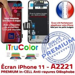 iPhone Écran Cristaux Liquides in-CELL inCELL Apple Oléophobe LCD HDR A2221 PREMIUM Multi-Touch Verre 3D SmartPhone Remplacement Touch