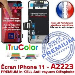 Tone Écran 6,1 Super Retina Affichage PREMIUM Cristaux SmartPhone iPhone Apple Tactile Liquides True A2223 in 11 inCELL Vitre