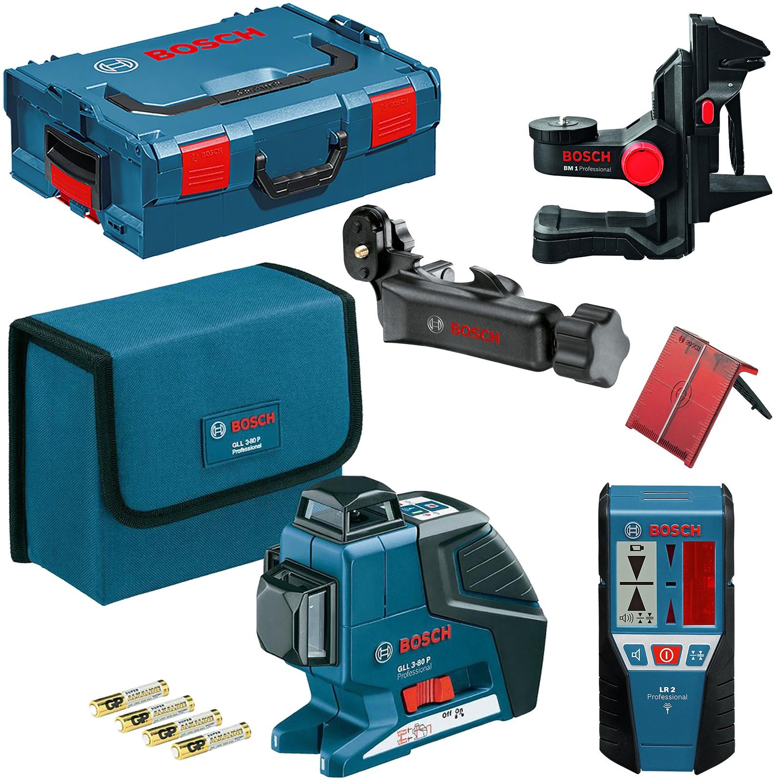 bb98da11bfdf63 Laser Bosch Professional GLL 3-80 P (0 601 063 30A) + LR 2 (0 601 ...